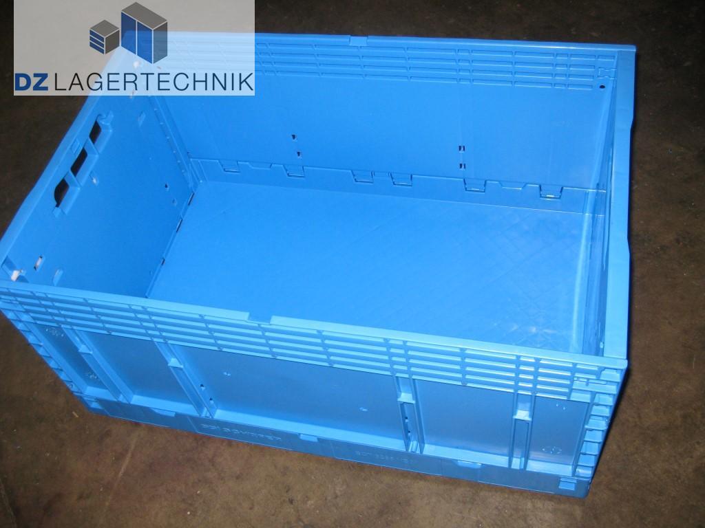 ect 6285 vb01 klappbox in blau 599x399x285 mm dz lagertechnik. Black Bedroom Furniture Sets. Home Design Ideas