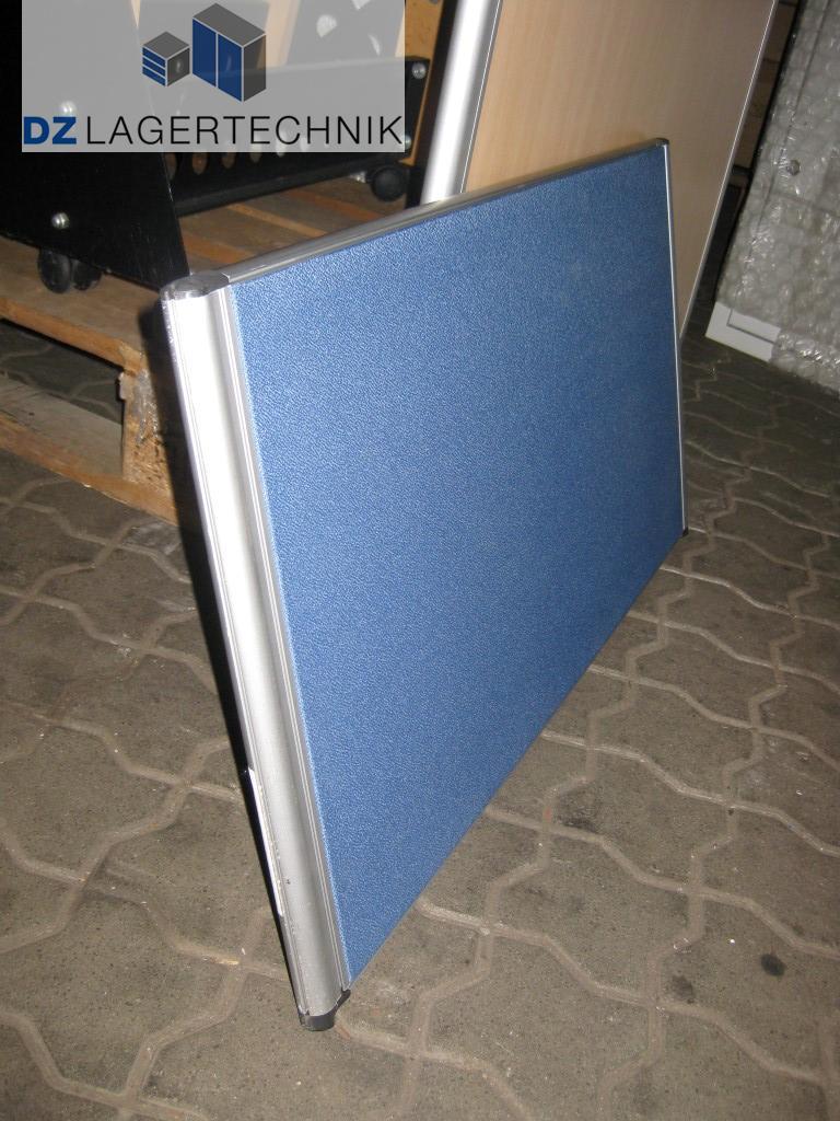 Schreibtisch Sichtschutz Aluna In Blau 800x400 Mm Dz Lagertechnik