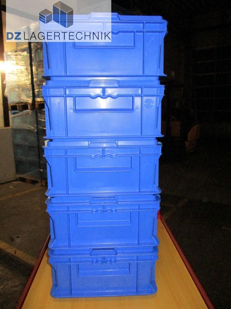 eurokiste ef 4140 mit deckel in blau von ssi sch fer 400x300x140 dz lagertechnik. Black Bedroom Furniture Sets. Home Design Ideas