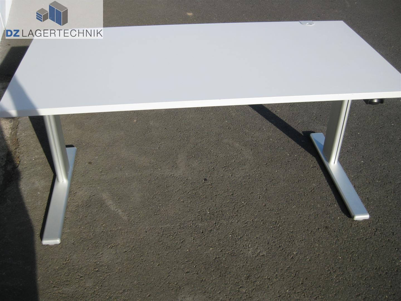elektrisch h henverstellbarer schreibtisch mit tischplatte 1600x800 mm dz lagertechnik. Black Bedroom Furniture Sets. Home Design Ideas