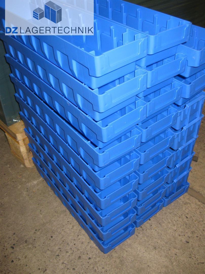 Regalkasten RK 421 blau SSI Schäfer 4 St Kasten Kiste Box NEU 408x162x115 mm