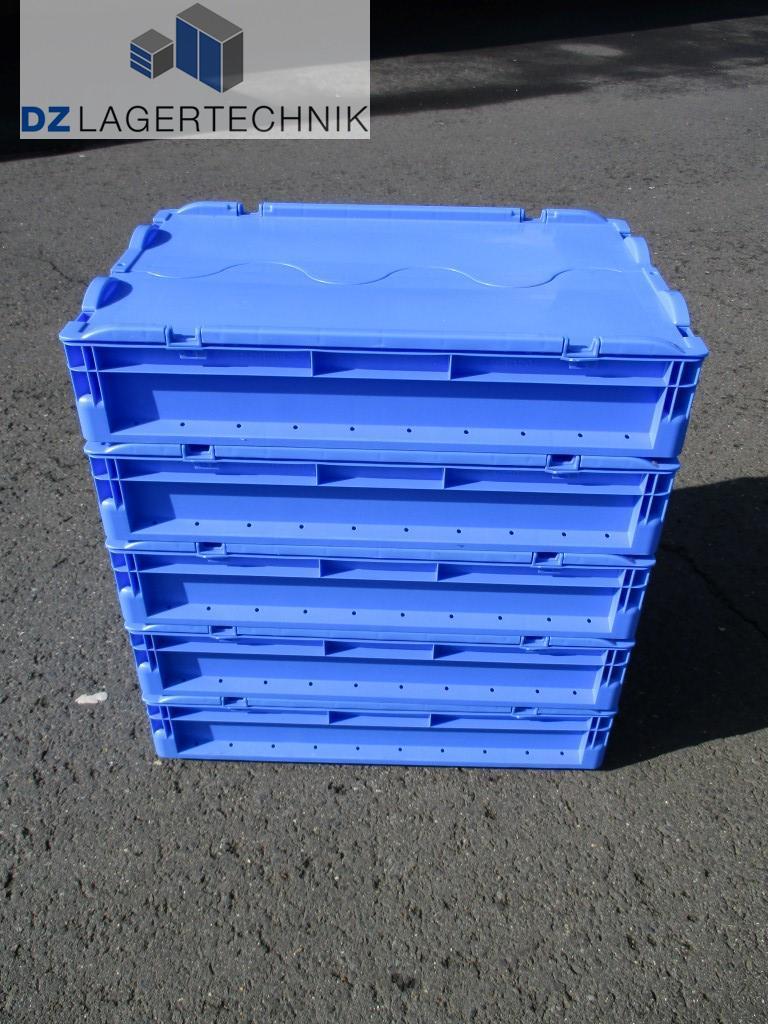 eurokasten elb 6120 blau mit deckel von ssi sch fer 600x400x120 dz lagertechnik. Black Bedroom Furniture Sets. Home Design Ideas