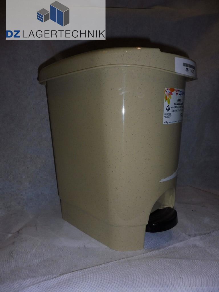 tretm lleimer kunststoff 12 liter beige dz lagertechnik. Black Bedroom Furniture Sets. Home Design Ideas