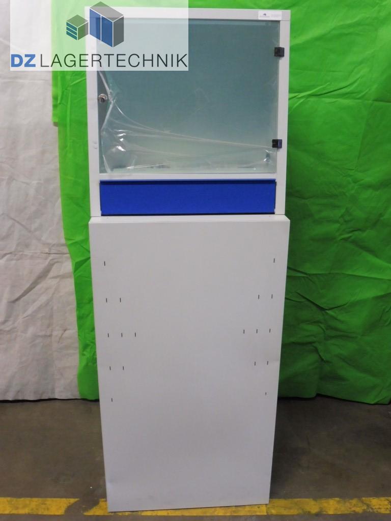 pc schrank lichtgrau 400x600x1700 dz lagertechnik. Black Bedroom Furniture Sets. Home Design Ideas