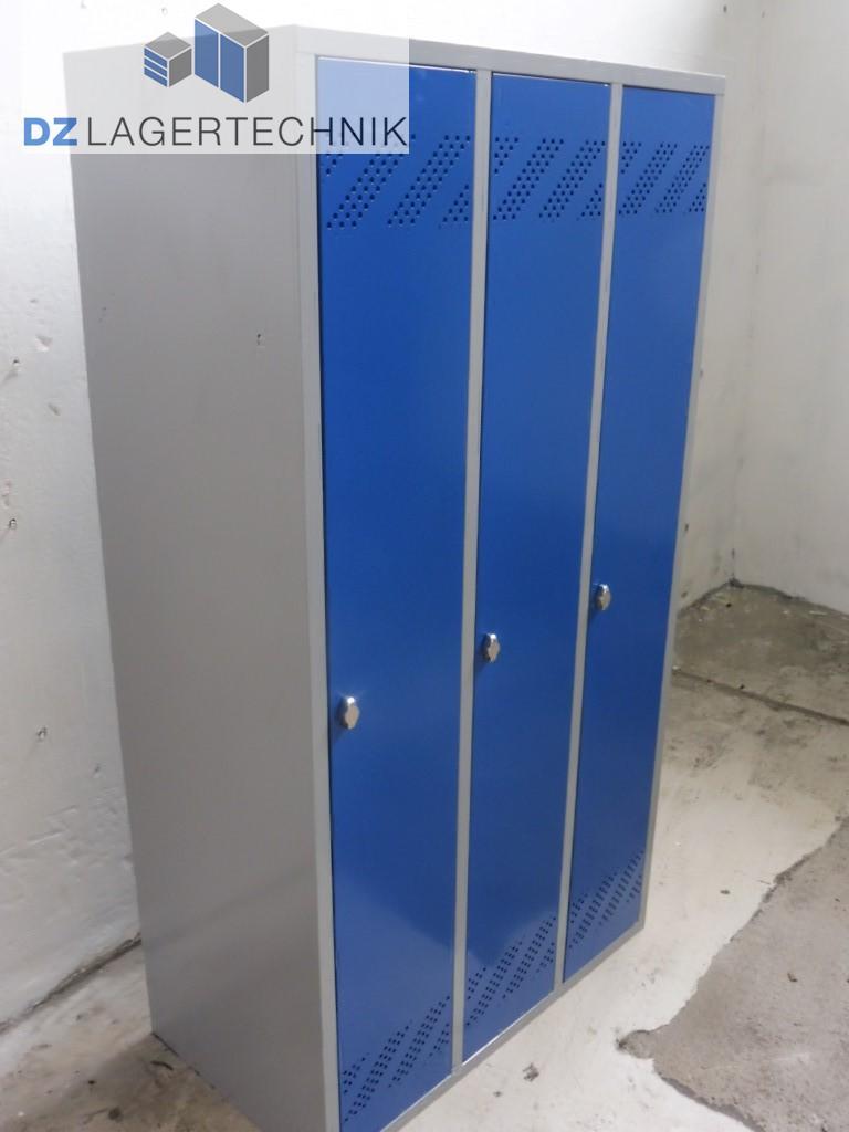 Spind KL-3 (300) 3 Abteile Wertfachschrank Umkleideschrank ...