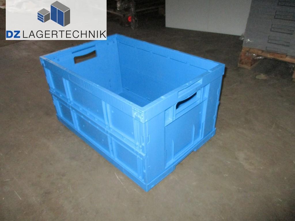 klappkiste fke 6320 4 mit deckel in blau von ssi sch fer 600x400x320 dz lagertechnik. Black Bedroom Furniture Sets. Home Design Ideas