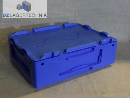 kasten ltb 4120 in blau mit deckel von ssi sch fer 400x300x120 dz lagertechnik. Black Bedroom Furniture Sets. Home Design Ideas